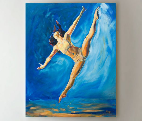 dancer painting by artist Matthew Ziranek