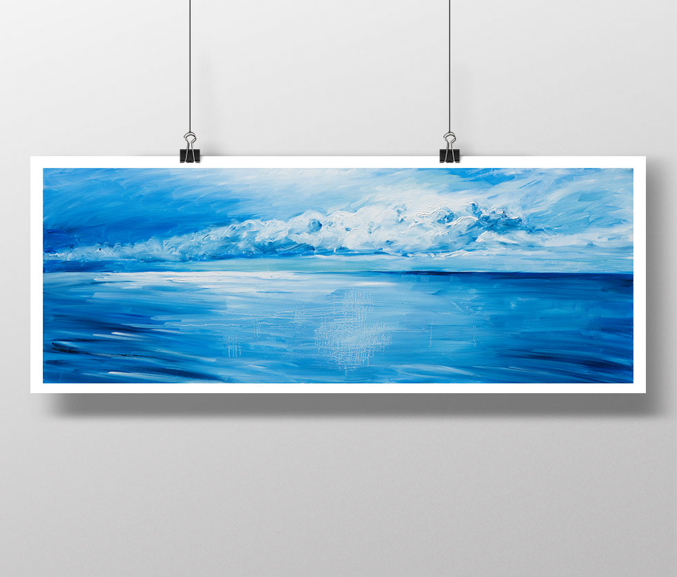 Cloudscape oil on canvas print by artist Matthew Ziranek