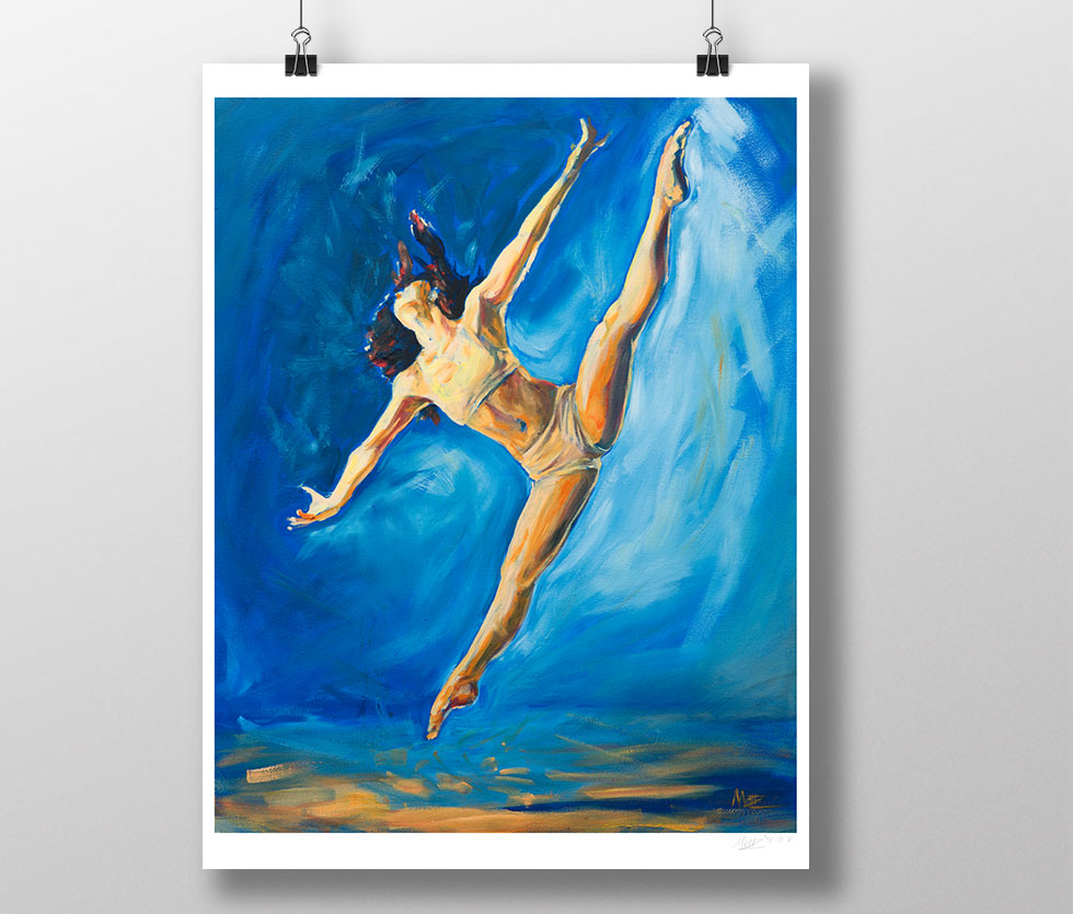 Dancer painting oil on canvas print Matt Zi