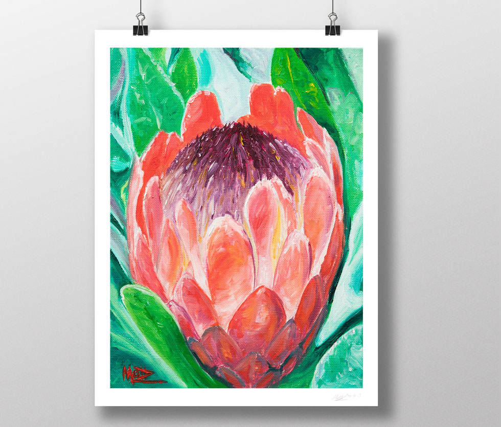 Flower Painting oil on canvas print by artist Matthew Ziranek