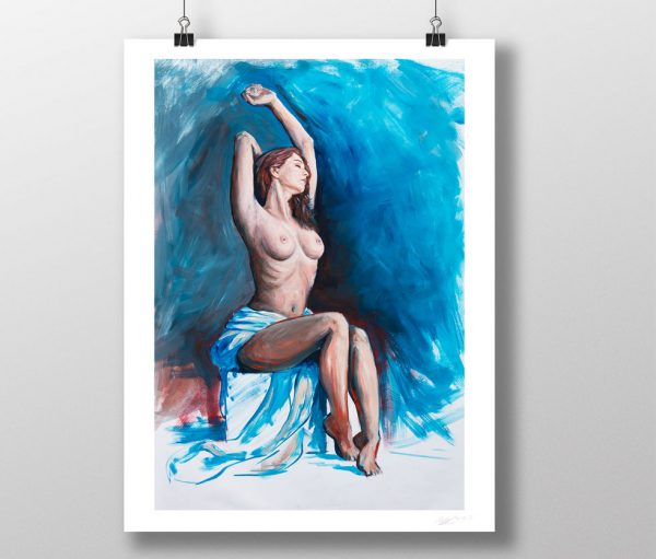 Nude Painting oil on paper print by artist Matthew Ziranek