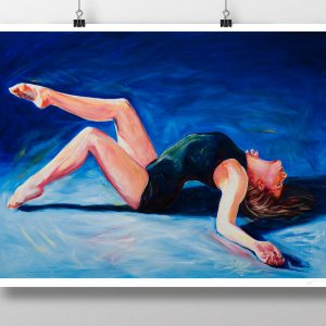 Dancer painting oil on canvas print by artist Matthew Ziranek